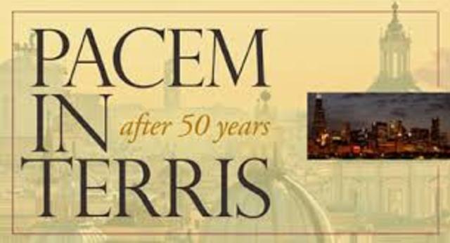 """""""Pacem in terris"""": Juan XXIII,"""