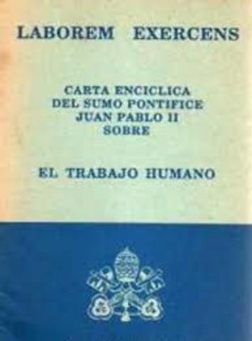 """Laborem exercens"": Juan Pablo II"