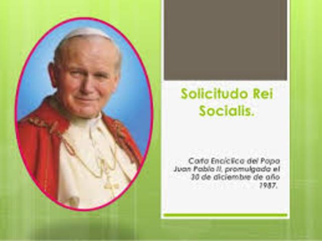 """Sollicitudo rei socialis"": Papa Juan Pablo II"