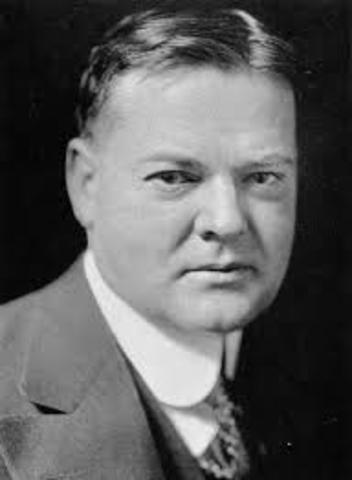 Herbert Hoover timeline | Timetoast timelines