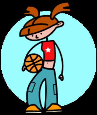 Sadies 1st sporting event basketball