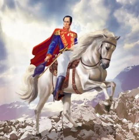 Se Elije a Simon Bolivar Primer Presidente De Colombia