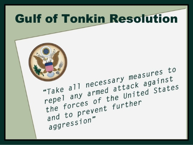 Image result for the gulf of tonkin resolution