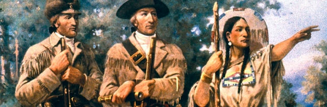 Sacagawea meets Lewis and Clark