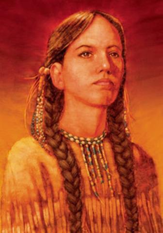 Sacagawea died