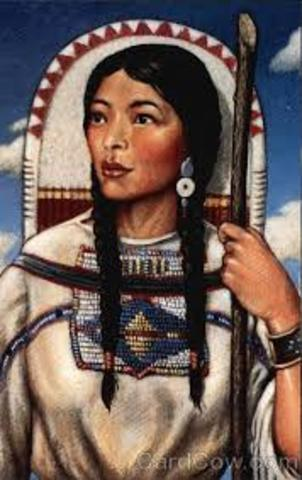 Sacagawea was sold into slavery