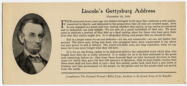 Gettysburg address essay