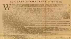 decloration of independence timeline