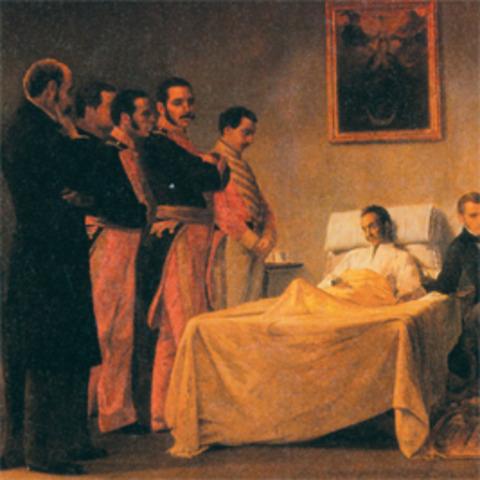 Muerte de Bolívar