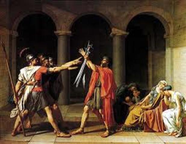 David. Giuramento degli Orazi