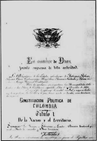 Constituciòn politica colombiana de 1886