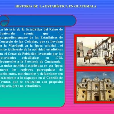 HISTORIA DE LA ESTADISTICA EN GUATEMALA timeline