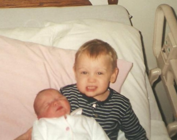 My sister Emma was born