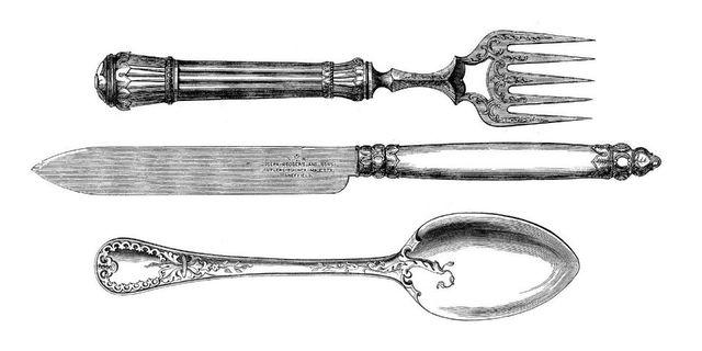 Historia de la gastronomia por hector hugo gonzalez for Tenedor y cuchillo en la mesa