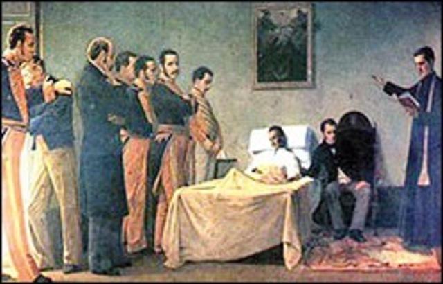 Muerte de Bolivar.