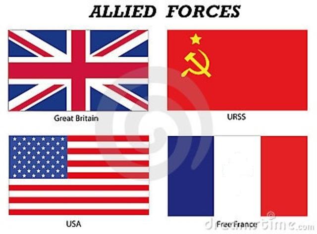 Paises aliados a Estados Unidos durante la guerra fria.