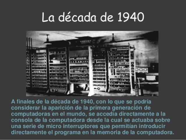 A finales de los años 1940