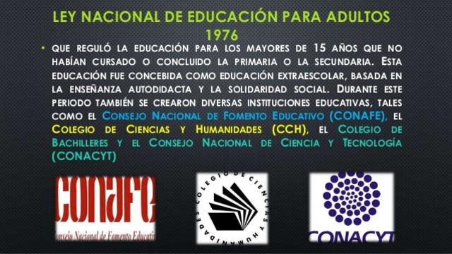 Promulgación de la Ley Nacional de Educación para Adultos