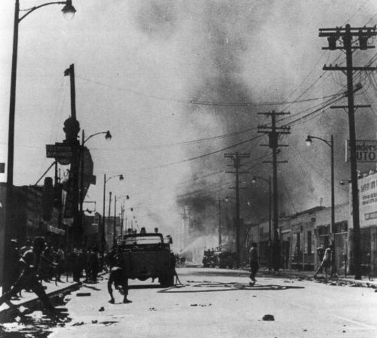 July - Rioting throughout the summer in the US. Blacks begin protesting in Chicago, Brooklyn, Cleveland and Baltimore.