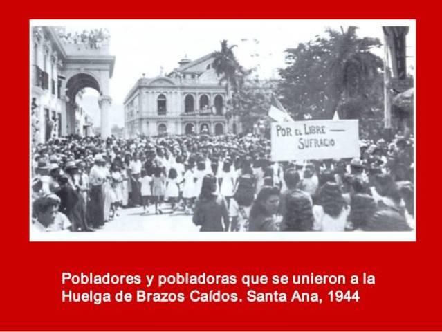 """HUELGA GENERAL  """"DE BRAZOS CAÍDOS"""" DE 1944"""