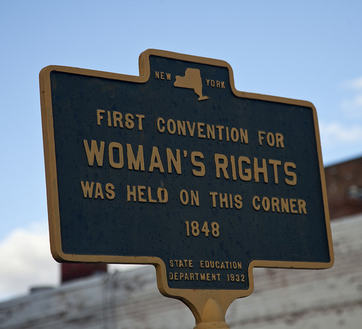 first womens rights convention held in 1848 Held at seneca falls, ny, july 19th and 20th, 1848 rochester: printed by john dick at the north star office report __ a convention to discuss the social, civil, and religious condition of woman, was called by the women of seneca county, ny, and held at the village of seneca falls, in the wesleyan chapel, on the 19th and 20th of july, 1848.