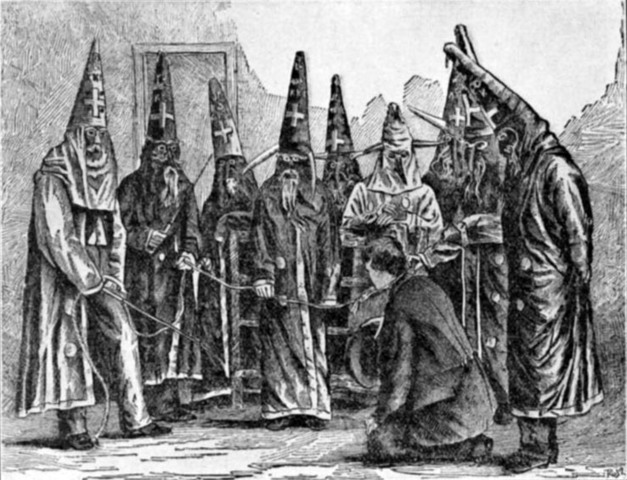 The First Ku Klux Klan was founded (Lasted until the 1870's)