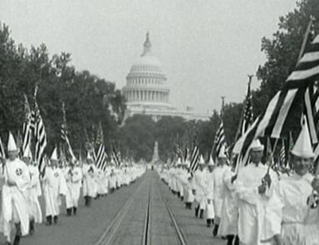 The Second KKK was Founded (Lasted until approximately 1944)