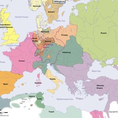 Europa de 1800-1900 timeline