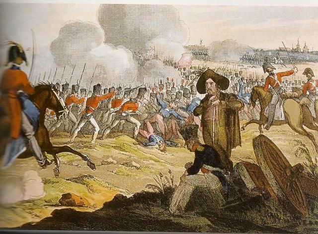 La batalla de Wagram.