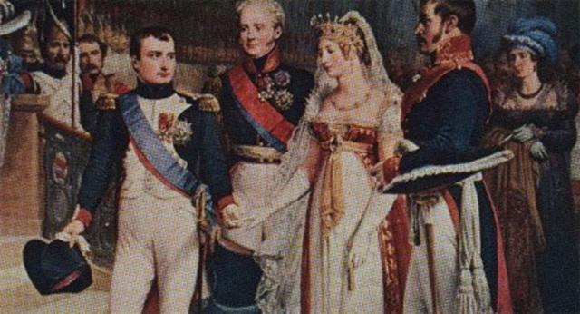 Matrimonio entre Napoleón y Maria Luisa.