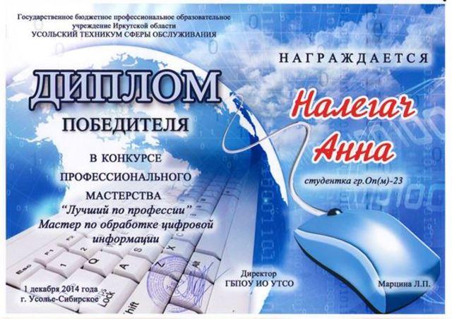 Конкурс профмастерства 2014