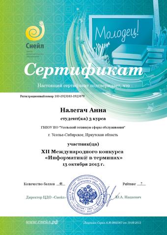 Информатика в терминах (XII Международный конкурс)