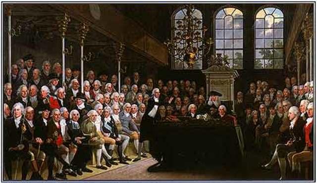 Se aprueba la ley de abolición de esclavos