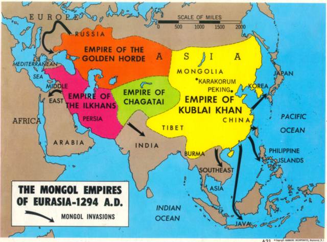 Infographics, Maps, Music and More: Mongol Conquests   Mongol Conquest Land