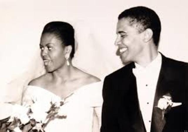 Obama married