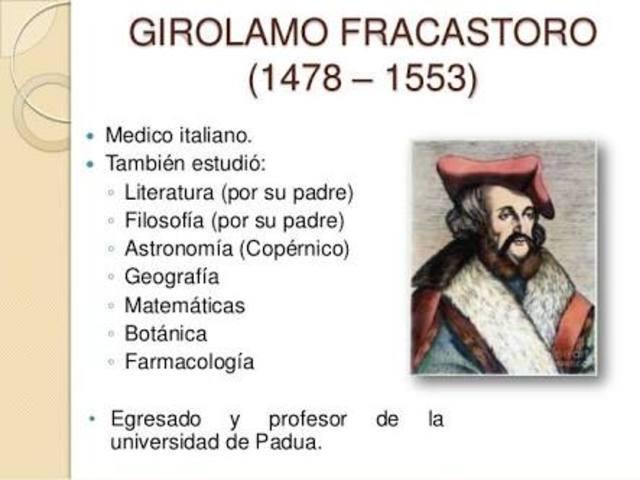 """Girolamo Fracastoro pública """" La infección de enfermedades contagiosas y su tratamiento """""""