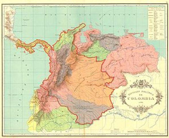 Conformacion de la Gran Colombia