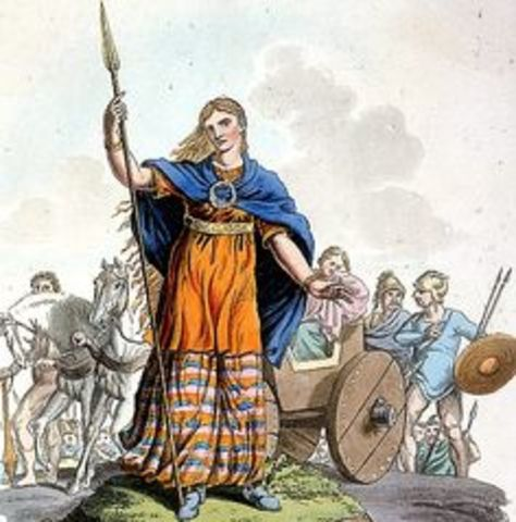 A conflicts between Boudicca and Roman empire