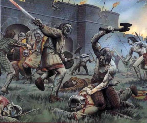 The Picts and Scots attack the border