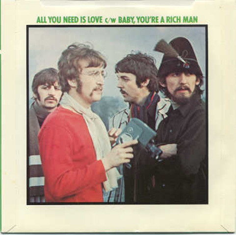""", Beatles' """"All You Need is Love,"""" single went #1."""