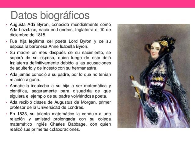 Aportacion de Augusta Ada Byron a la Máquina Analitica