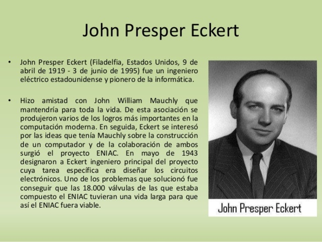 Computadora ENIAC de Eckert y Mauchly