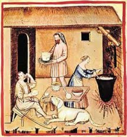 Los pueblos de China y Medio Oriente comienzan a utilizar enzimas para hacer queso.