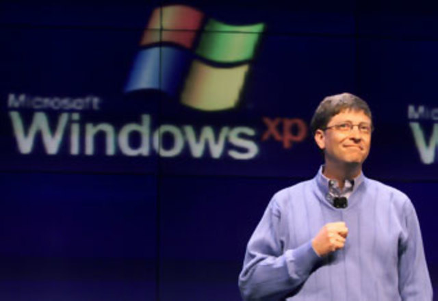 Bill Gates anuncia Winodws xp