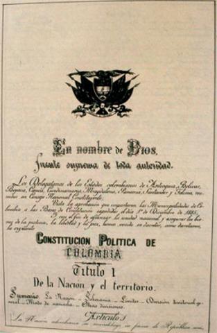 CONSTITUCION POLITICA 1886