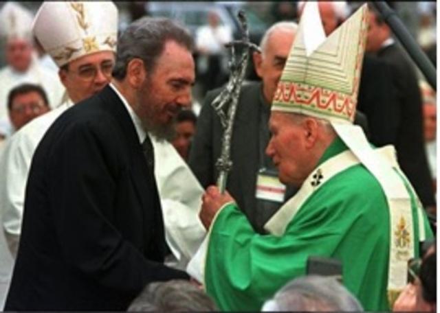 Histórica visita de Juan Pablo II a Cuba.