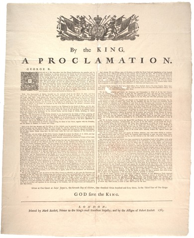 Proclamation of 1763 research paper