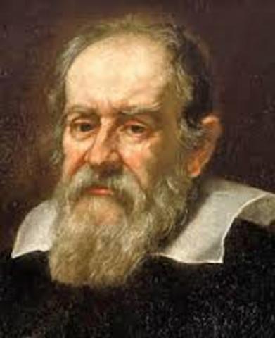 Galileo Galilei emplea el telescopio para estudiar el cielo.