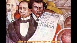 México de 1850 a 1900 timeline