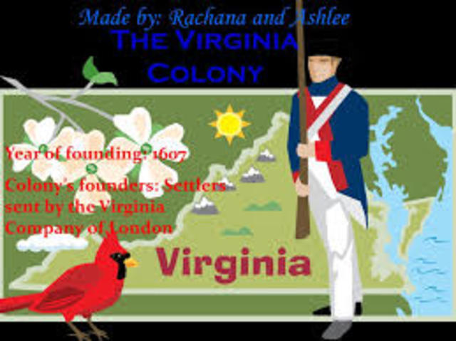 Jamestown, Virginia founded 1607